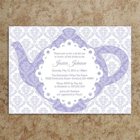 tea invitation diy printable pdf tea