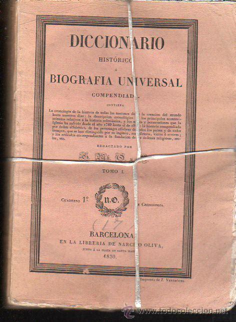 libreria narciso diccionario hist 243 o biograf 237 a universal 11 comprar