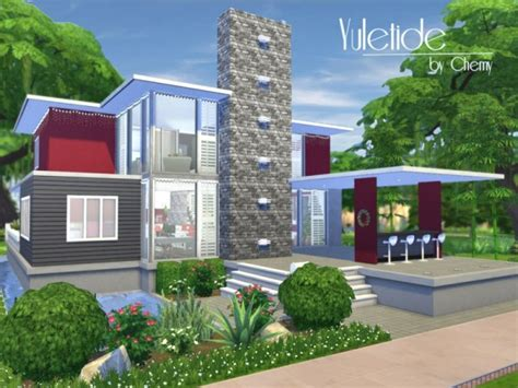 of sims 4 house building small modernity the sims resource yuletide modern house by chemy sims 4 Best