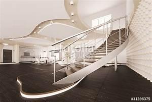 Treppe Im Wohnzimmer : treppe im wohnzimmer interior 3d render stockfotos und ~ Lizthompson.info Haus und Dekorationen