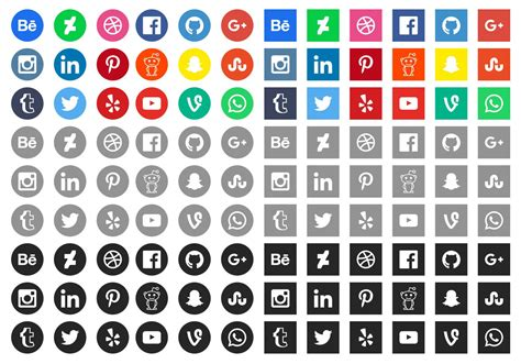 Social Media Icons Vector 20 Social Media Icons For Web Design Mooxidesign