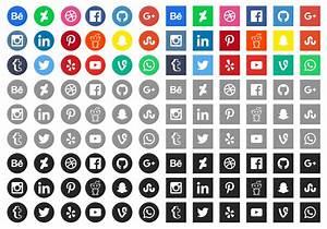 20+ Latest Social Media Icons for Web Design | MooxiDesign.com