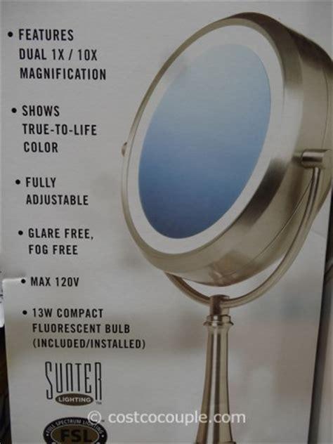 costco lighted mirror sunter daylight vanity makeup mirror
