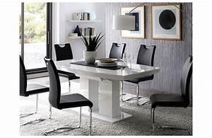 Table Salon Blanc Laqué : table a manger laque blanc ~ Teatrodelosmanantiales.com Idées de Décoration