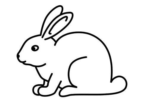 Rabbit Drawing Rabbit Sketch For Kids Drawing Of A Bunny Bunny Drawing
