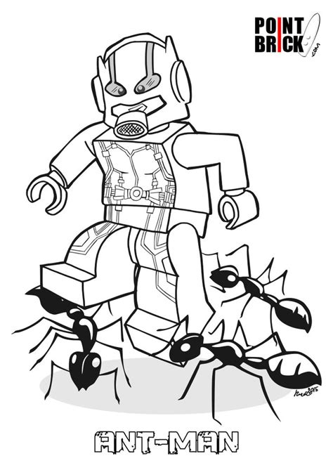 disegni da colorare lego marvel super heroes ant man