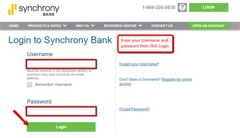 Synchrony Bank Online Banking Login