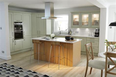 Alabaster Kitchen Cabinets by Wren Kitchens Shaker Sage Timber