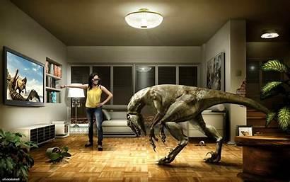 Virtual Reality Tv Games Dinosaurs Humor Interior