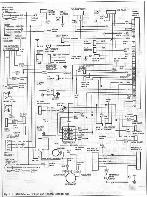 1986 Ford Econoline 350 Fuse Box Diagram by 1989 Ford Econoline Wiring Diagram Wiring Schematics