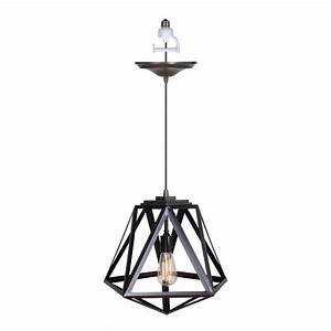 Worth home products light brushed bronze instant pendant