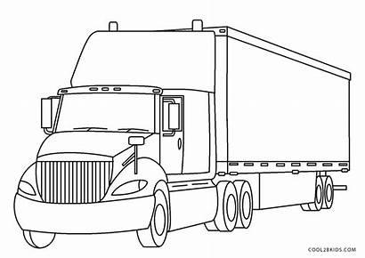 Coloring Truck Semi Trucks Printable Excelent Outstanding