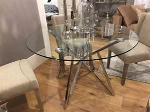 Tisch Rund Glas : runder tisch glas metall glastisch rund verchromt esstisch rund durchmesser 120 cm ~ Frokenaadalensverden.com Haus und Dekorationen