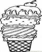 Ice Coloring Cream Pages Sundae Waffle Printable Print Seasons Sheets Template Coloringpages101 Getcolorings Popular Comments sketch template