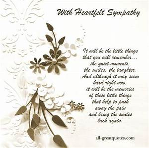 With Heartfelt Sympathy Free Sympathy Condolences Cards ...