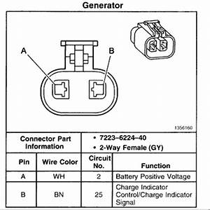 Wire Alternator Wiring Connector Diagram