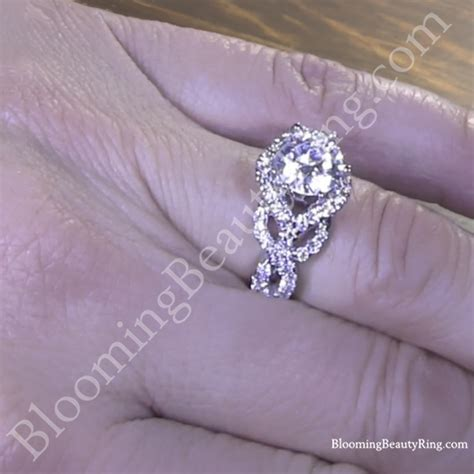 6 prong beautiful crossover pave designer engagement ring bbr595 unique engagement rings