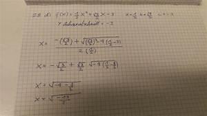 Berechnen Von Nullstellen : nullstellen der parabel berechnen f x 1 2 x 2 3 2 x 3 mathelounge ~ Themetempest.com Abrechnung