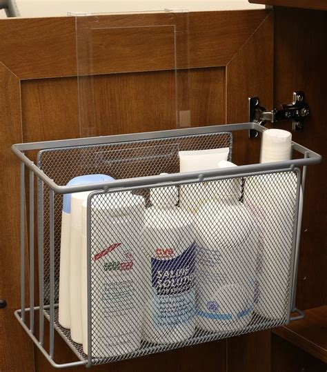 the door bathroom cabinet organizer door basket organizer cabinet sink storage