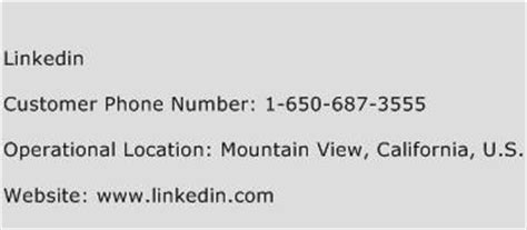 linkedin customer service number toll free phone number