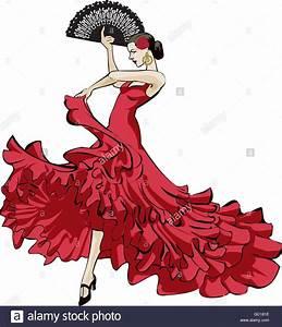 Original Vector Illustration Of A Spanish Flamenco Dancer