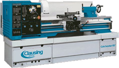 clausingcolchester  geared head lathe boro supply company