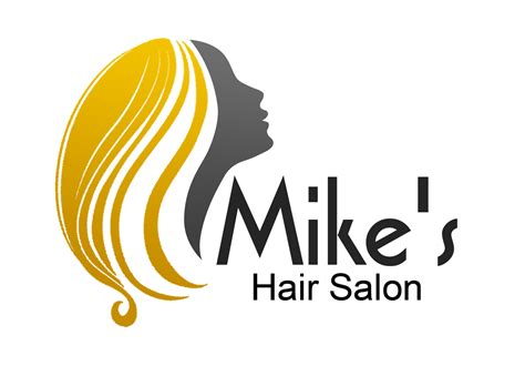 hair logo design for mike s hair salon by perfection