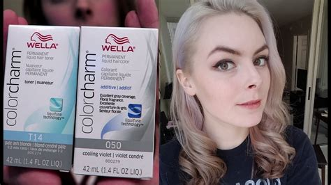 Dyeing My Hair Silver (with Wella Colorcharm T14 & Purple