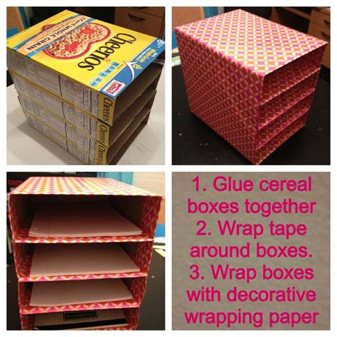 awesome ways  recycle cereal boxes  images diy