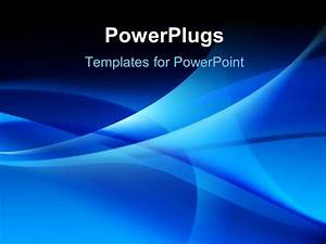 Powerpoint template various bluish waves in the for Power plugs powerpoint templates