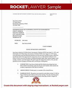 legal marriage separation agreement template with sample With free sample marriage separation letter