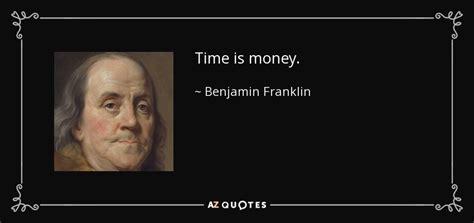 benjamin franklin quote time  money