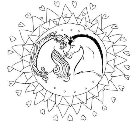 unicornios mandalas  zentangles  pegasus