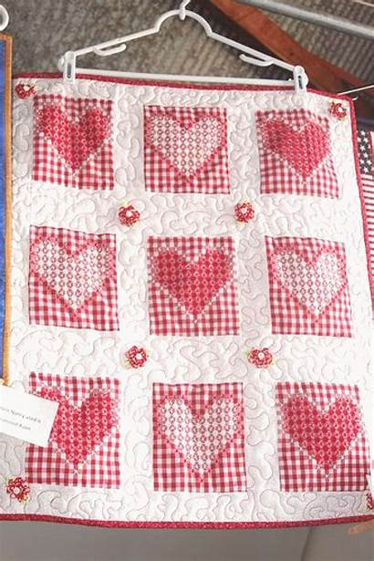 Scratch Chicken Embroidery Quilt Gingham Hearts Learn