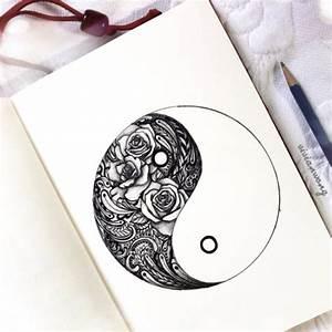yin yang drawing | Tumblr