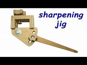 Homemade sharpening jig for woodturning tools (free plans