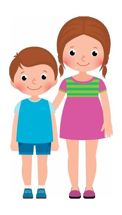 Brother Sister Clipart Cartoon Clip Children Cliparts