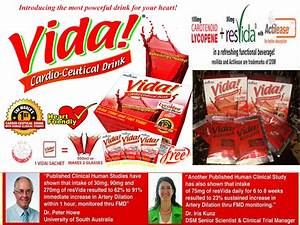 Alliance in Motion Global: VIDA, Cardio- Ceutical drink