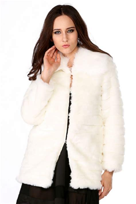 jaket bulu big size korean white fur coat jyfe85awhite