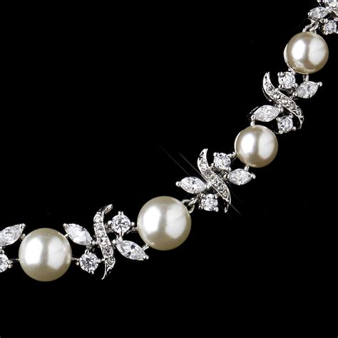 pearl bridesmaid jewelry sets timeless pearl cz bridal jewelry set bridal wedding accessories