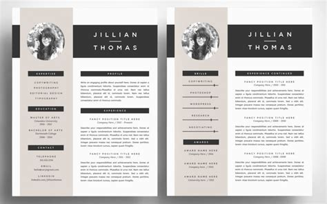 Illustrator Resume Template Free by The Best Cv Resume Templates 50 Exles Web Emailing