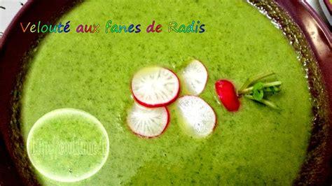 cuisiner des fanes de radis velouté aux fanes de radis au thermomix cook
