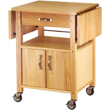 winsome wood rachael drop leaf utility kitchen cart