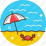 Beach Icon Icons Premium Circular
