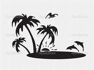 Beach Silhouette Clipart