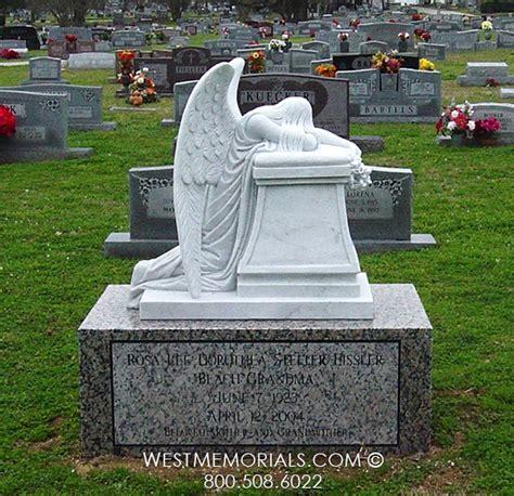 eissler weeping monument in brown granite west