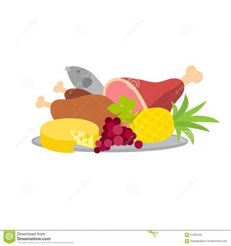 cuisine stock food platter vector illustration stock vector image