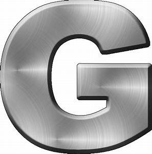 presentation alphabets brushed metal letter g With metal letter g