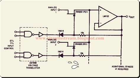 Simple Buffered Analog Switch Circuit Diagram