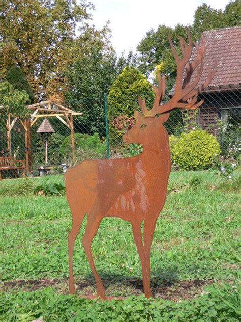 Gartendeko Blech by Tiere Aus Blech F 252 R Den Garten Hirsch Doppelgeweih Hirsche